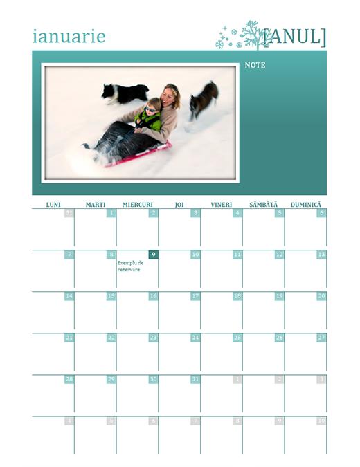 Calendar familial pe anotimpuri (orice an, luni-duminică)