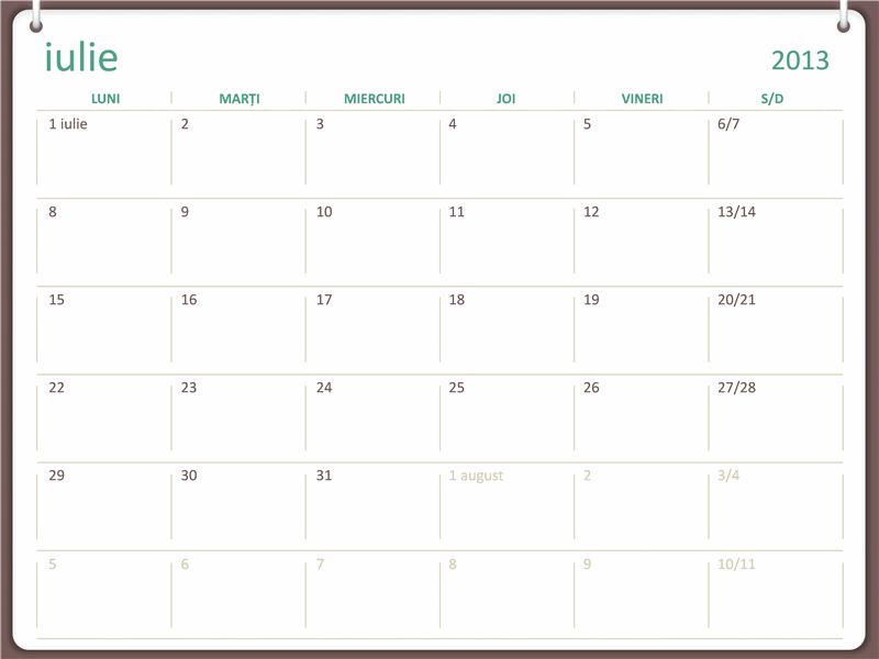 Calendar școlar 2013-2014 (iulie)