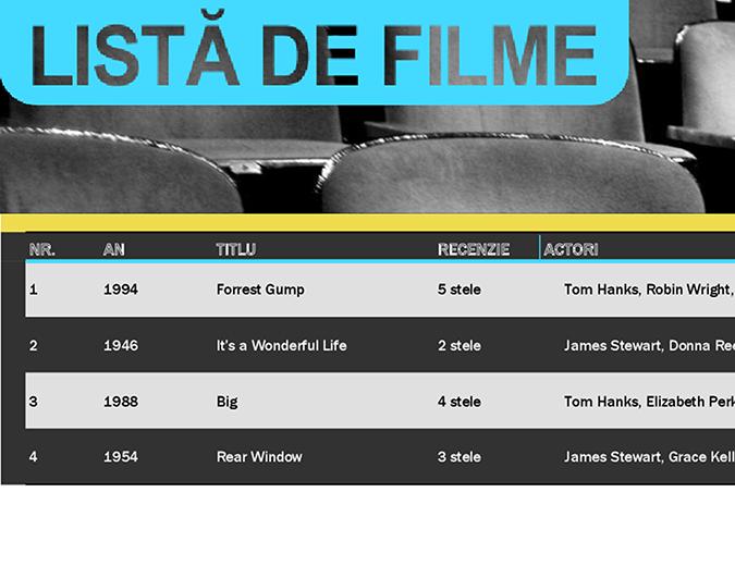 Listă filme