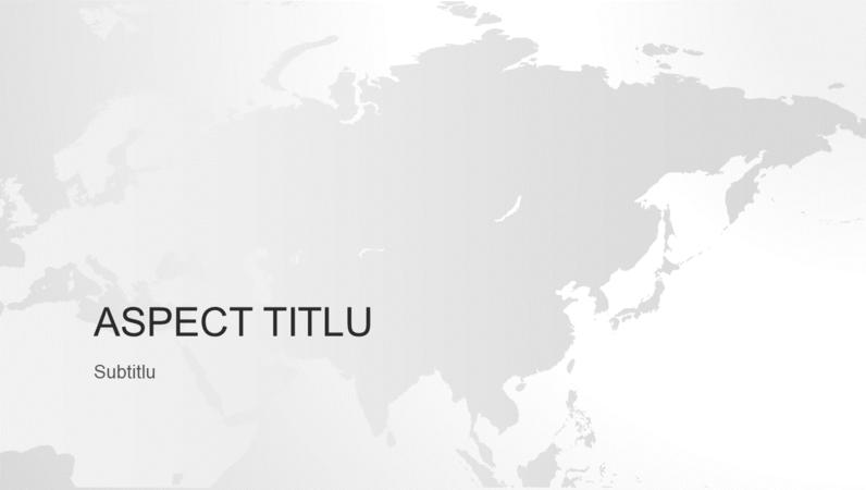 Seria de hărți ale lumii, prezentarea continentului asiatic (ecran lat)