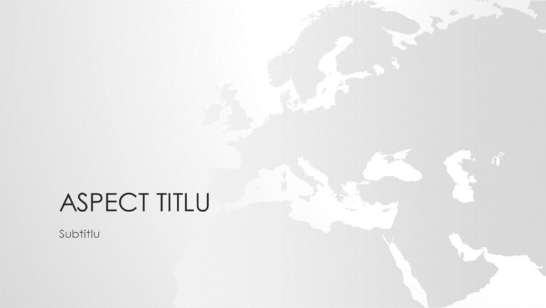 Seria de hărți ale lumii, prezentarea continentului european (ecran lat)
