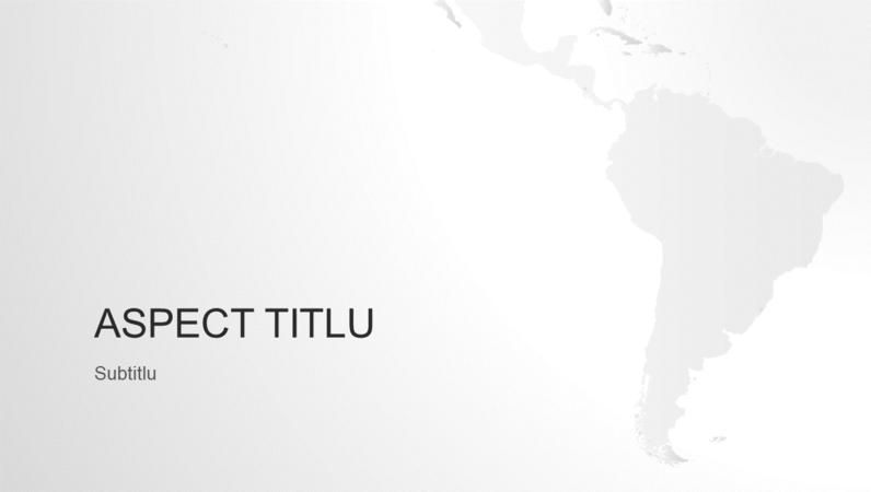 Seria de hărți ale lumii, prezentarea continentului sud-american (ecran lat)