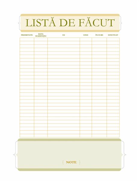 Listă De făcut