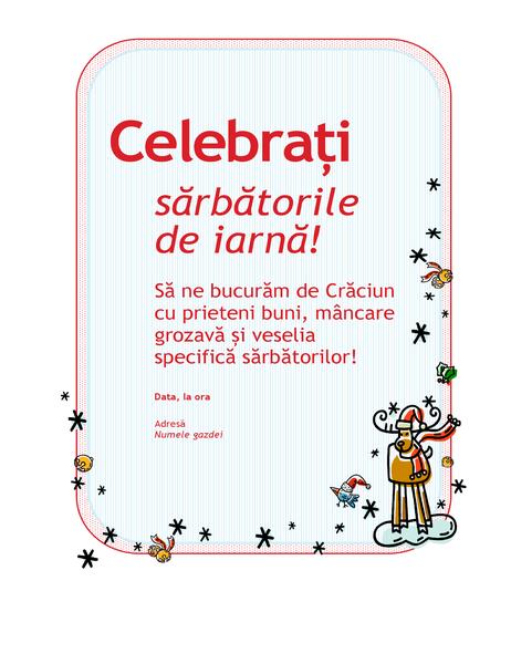 Invitație la petrecerea de sărbători
