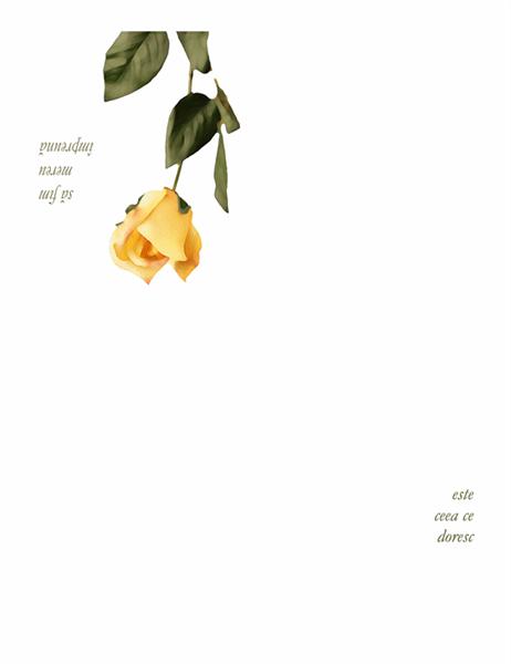 Carte poștală romantică (cu trandafir)