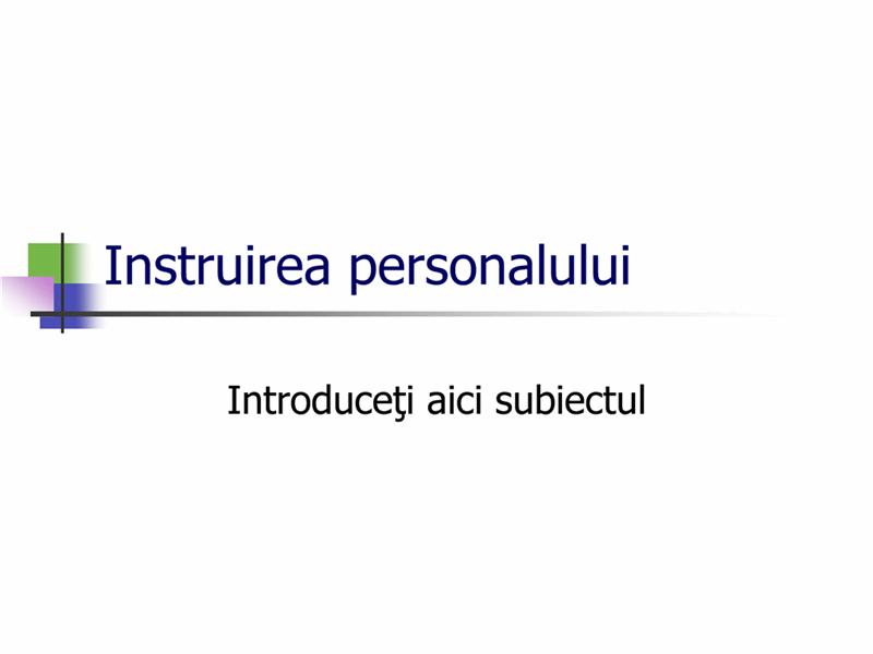 Prezentare pentru instruirea personalului