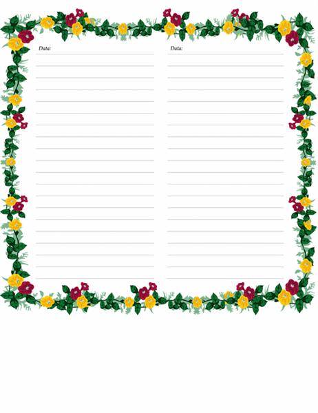 Pagini de jurnal (cu flori)