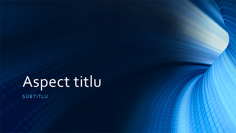 Prezentare cu tunel digital albastru, pentru afaceri (ecran lat)