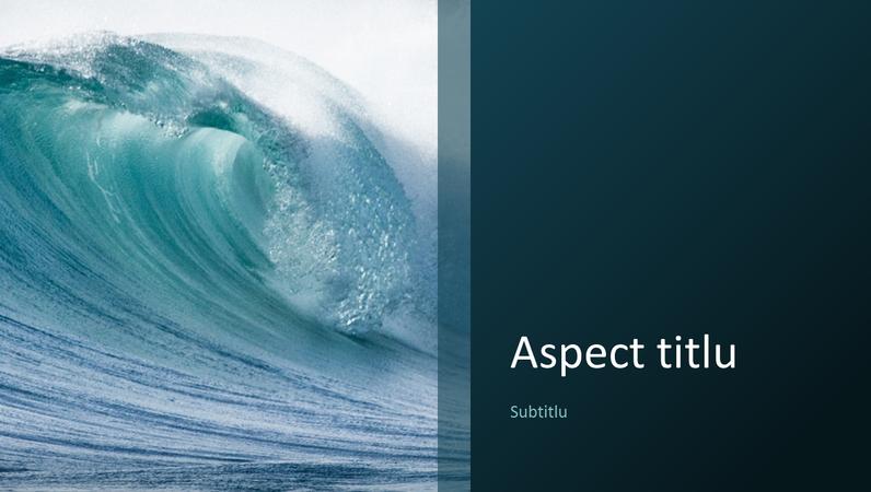 Prezentare de natură cu valuri oceanice (ecran lat)