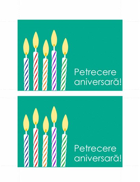 Carte poștală - Invitație la petrecere aniversară