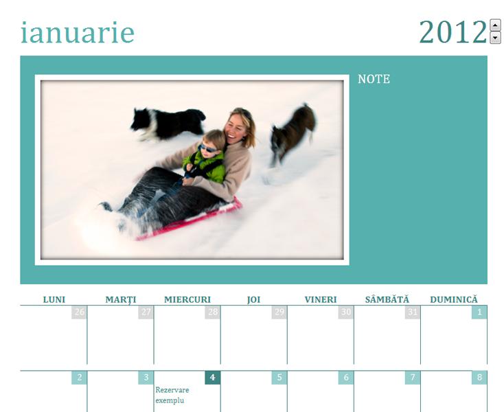 Calendar cu fotografii de familie (Luni)