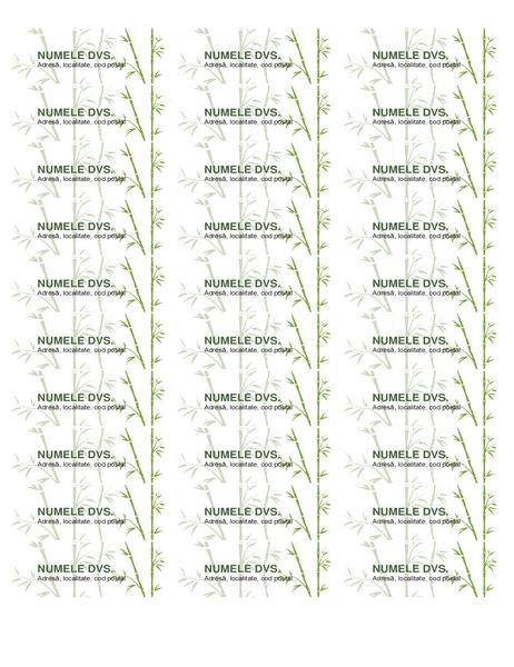 Etichete adresă (bambus)