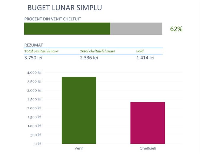 Buget simplu lunar