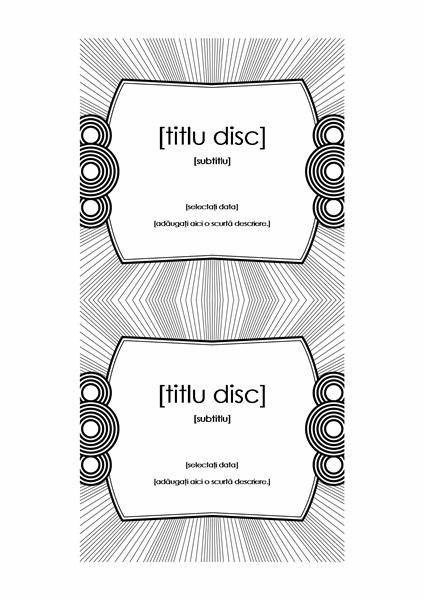 Etichetă CD (funcționează cu Avery 5693)