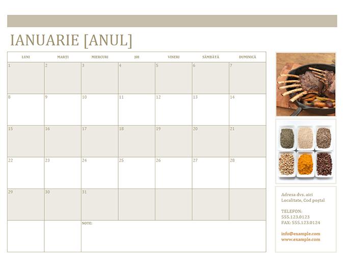 Calendar foto (Luni)