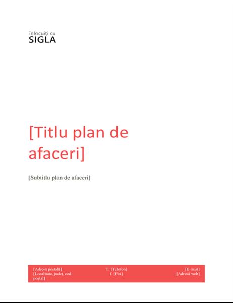 Plan de afaceri (set de proiectare roșu)