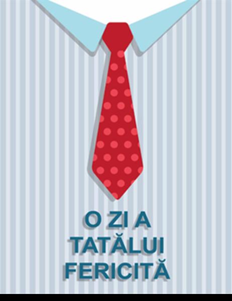 Felicitare cu cravată pentru ziua tatălui (pliată în patru)