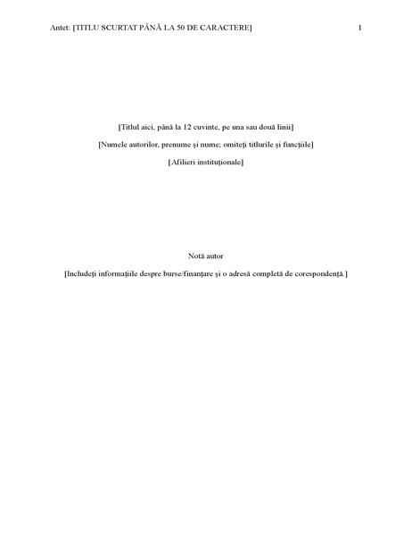 Raport privind stilul APA (ediția a șasea)