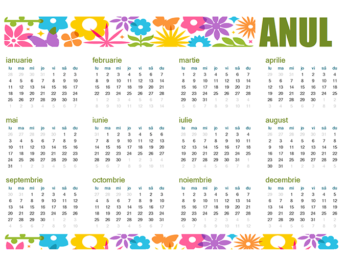 Calendar amuzant pentru orice an