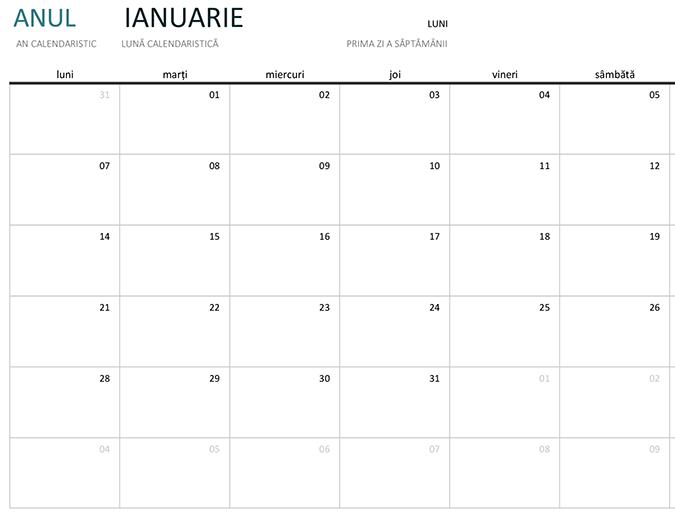 Calendar lunar pentru orice an