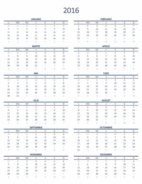 Calendar pentru un an