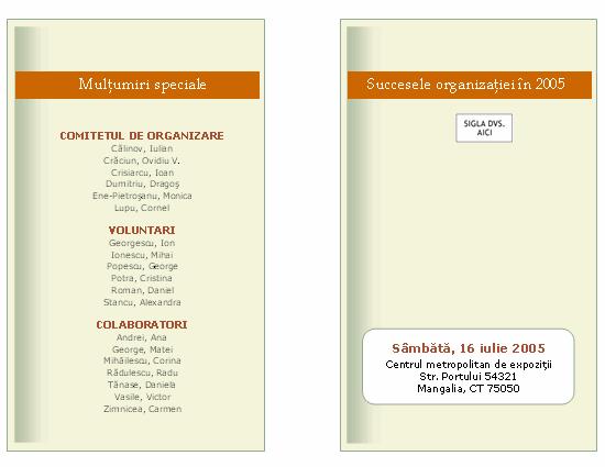 Programul unui eveniment din mediu de afaceri