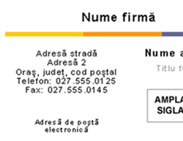 Carte de vizită (tema Nivel)