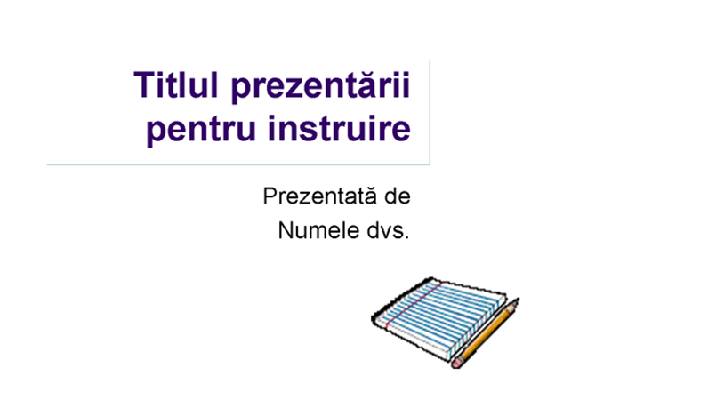 Prezentare în scop de instruire