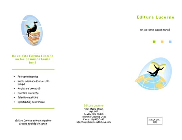 Broșură pentru angajare