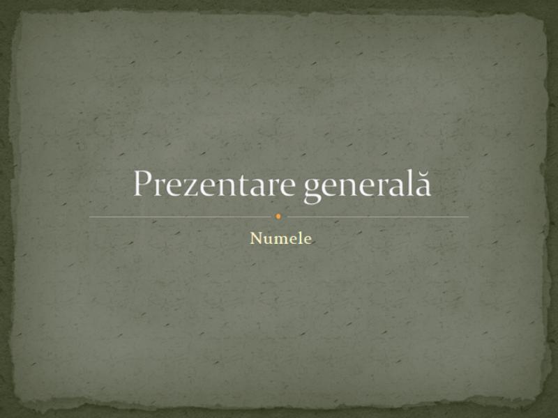 Prezentare generală