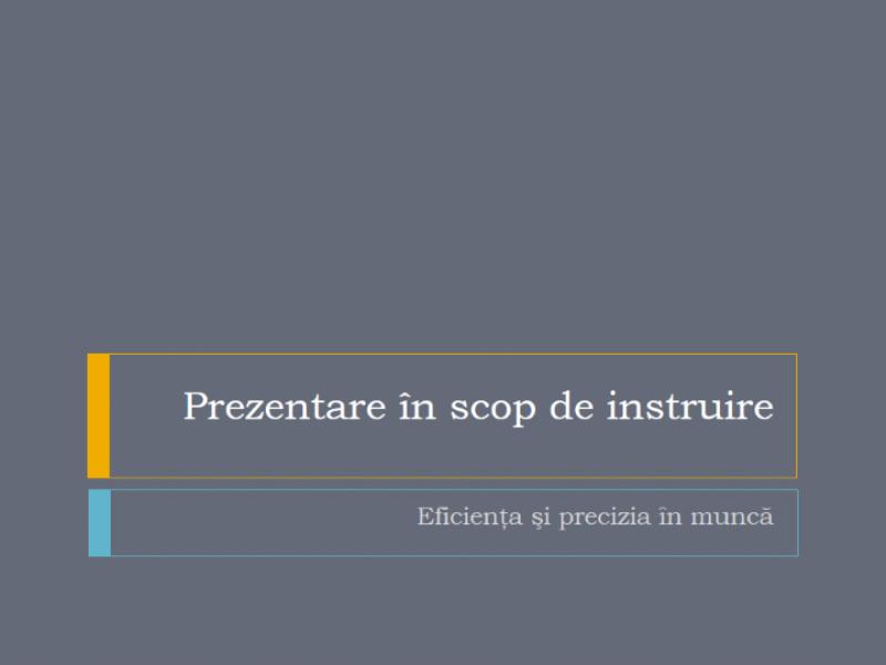 Prezentarea unui seminar de instruire