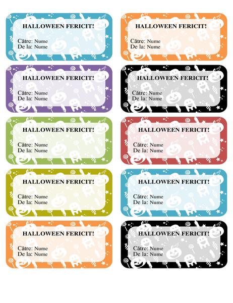 Etichete Halloween (10 pe pagină)