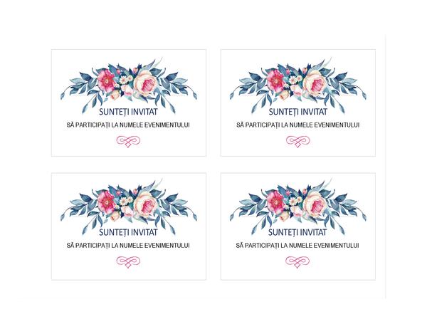 Invitație la petrecere (model floral)
