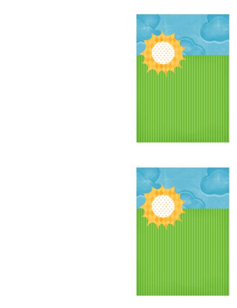 Carte poștală de mulțumire (model cu nori)