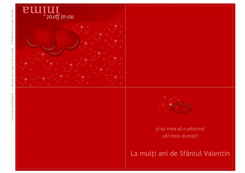 Felicitare de Sfântul Valentin (sfert de pagină)