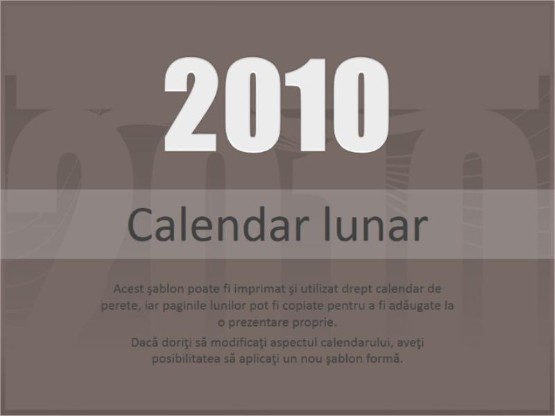 Calendar 2010 (Luni-Duminică)