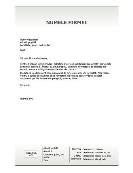 Foaie de scris pentru antet de scrisoare de afaceri (proiectare Simplu)