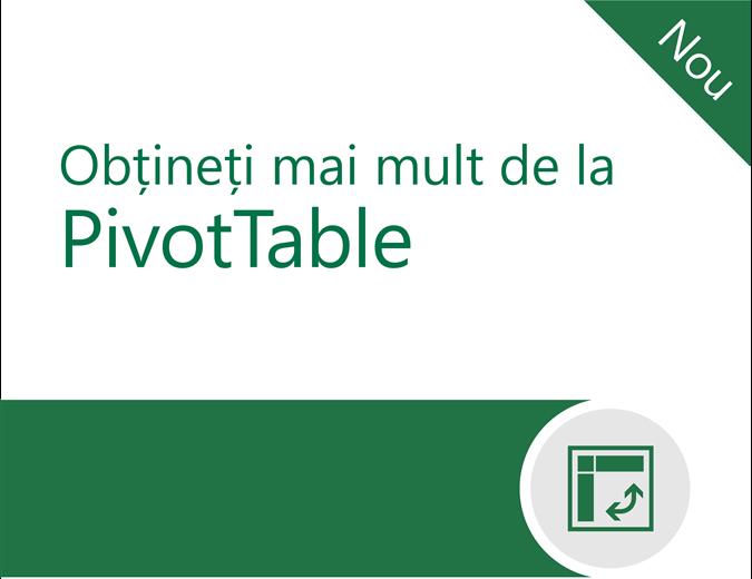 Obțineți mai mult de la rapoartele PivotTable