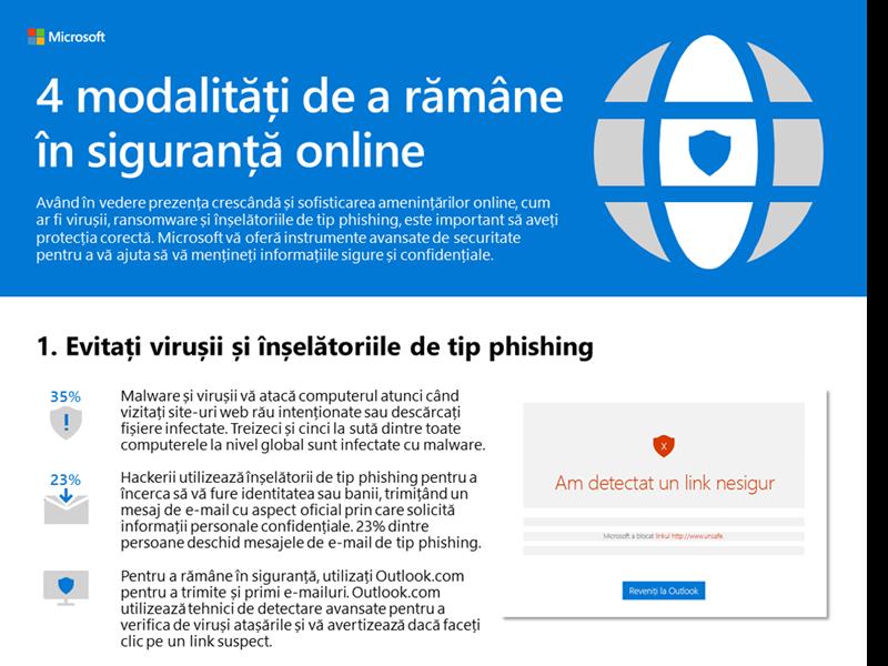4 modalități de a rămâne în siguranță online