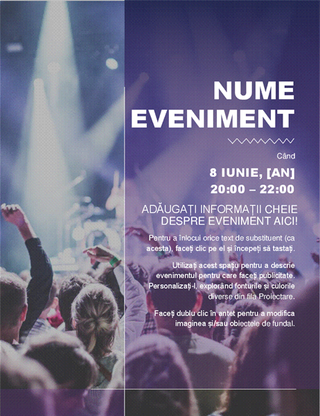 Fluturaș de eveniment cultural