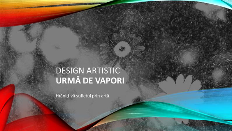 Design artistic Urmă de vapori