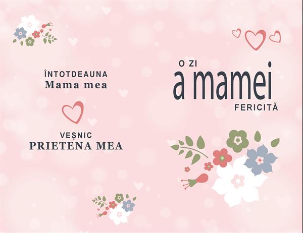 Felicitare de Ziua mamei, frumoasă în culoarea roz