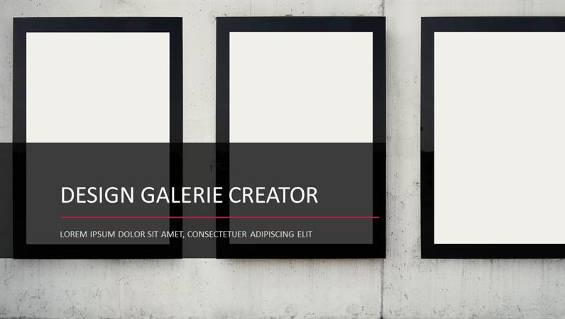 Design Galerie creator