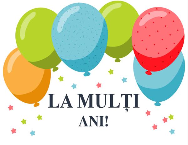 Felicitare cu baloane pentru zile de naștere