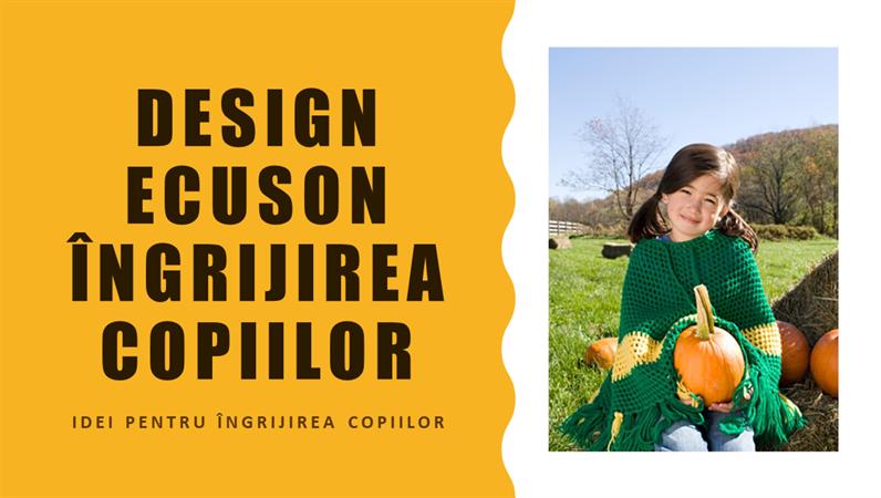 Design Ecuson îngrijirea copiilor