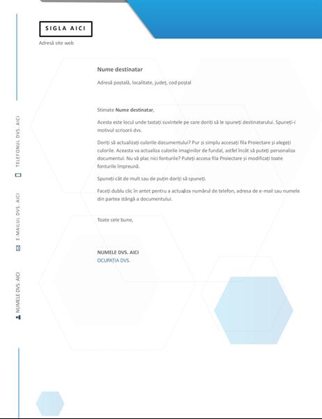 Antet de scrisoare hexagon
