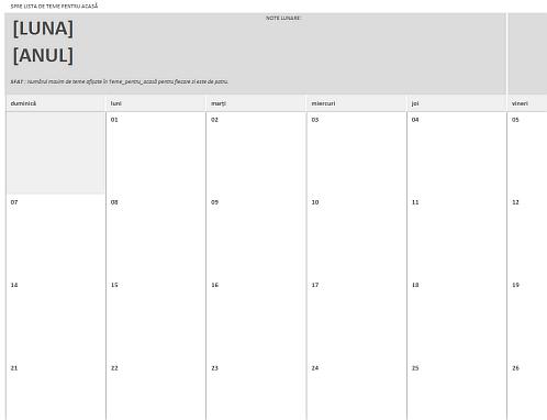 Calendar de teme