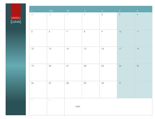 Calendar anual