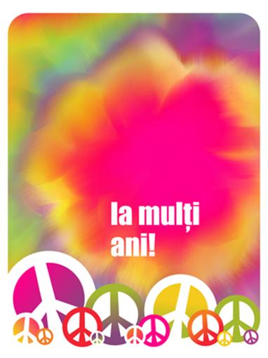 Felicitare aniversară (multicoloră)