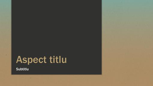 Prezentare în gradient albastru-ocru (ecran lat)